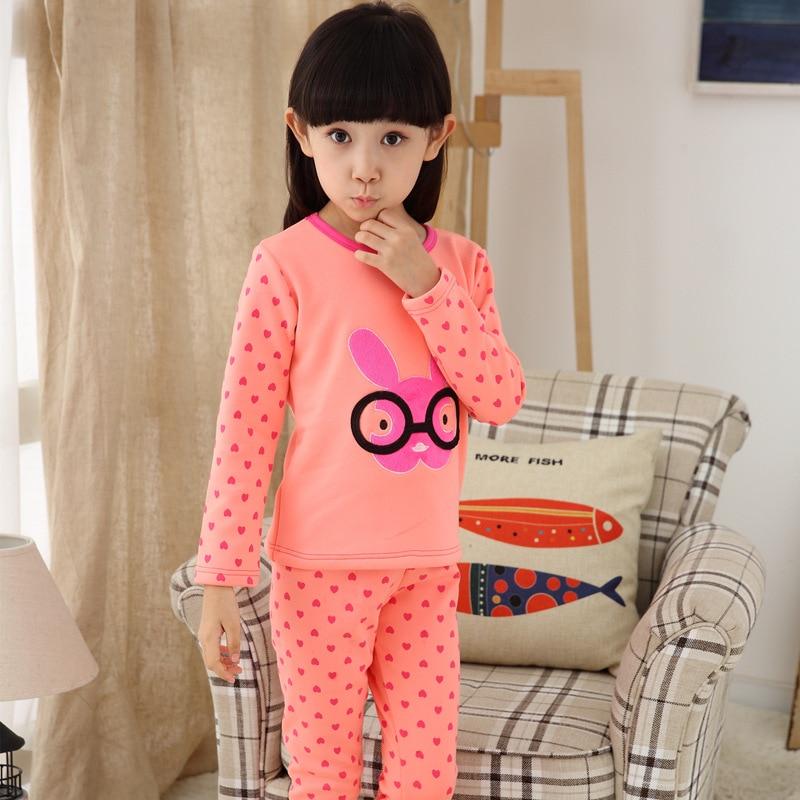 3acaa65c2 Girls' Fleece Lined Pajama Set Hello Kitty Clothing Sets Baby Girl Winter  Clothes Christmas Pyjamas 1195