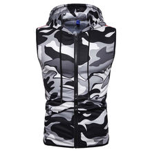 Tank Top Männer Casual Gym Kleidung Sommer Ärmellose Zip Up Hooded Sweatshirt Sport Hoodies Weste Mantel Weste Ropa De Hombre(China)