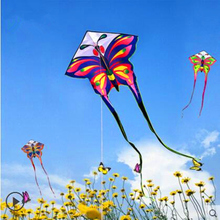 цена на free shipping high quality long tails butterfly kite  with handle line children kite outdoor toys kite flying toys resin