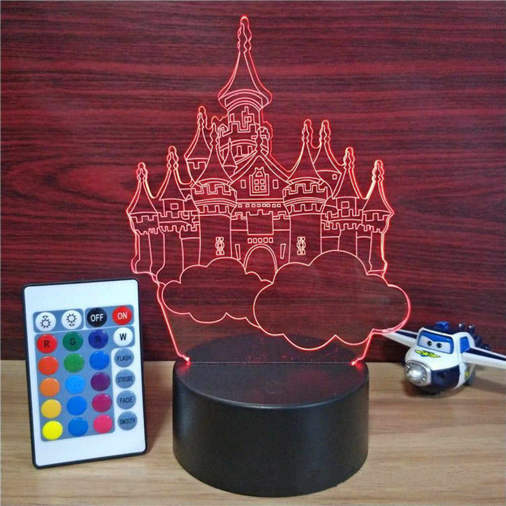 ABS Acrylic Black 3D LED Lamp Night Light Base USB Cable Remote Control New Lighs Base Gadgets Emote Bedroom USA Dropshipping 4D