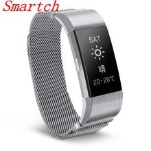 Smartch S18 Bluetooth Smart Band Поддержка сердечного ритма крови Давление монитор браслет Водонепроницаемый смарт-браслет для IOS Android