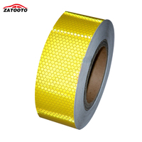 2 164 Yellow Reflective Safety Warning Conspicuity Tape Film Sticker Truck Warning Tape