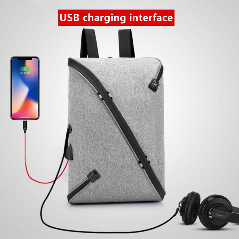 Fashion Bags boy school bag Backpacks Brand Design Teenagers Best Studenst Travel Usb Charging headset port Waterproof schoolbag(China)