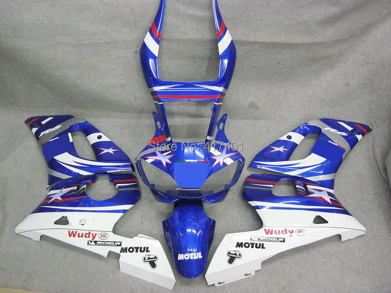 7 Gifts+ Blue white fairings for Yamaha YZF-R6 03 - 05 YZF R6 03 04 05 YZF 600 R6 2003 2004 2005 fairing parts#fews Windscreen