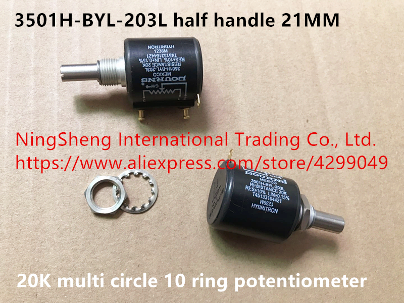 Original new 100 Mexico import 3501H BYL 203L 20K multi circle 10 ring potentiometer half handle