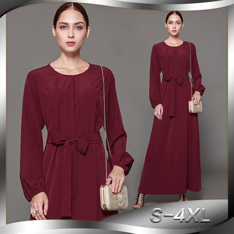 1227660b69 Discount!! 2018 New Women Muslim Dress Elegant Clube Party Dubai ...