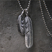 Simple Classic Feather Necklace Pendant For Long Sweater Chain Statement Jewelry Choker Necklace Women Jewelry Accessory