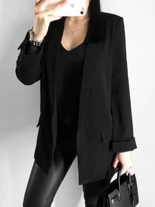 RZIV Suit Jacket Coat Spring Women's Blazer Solid-Color Casual Single-Button