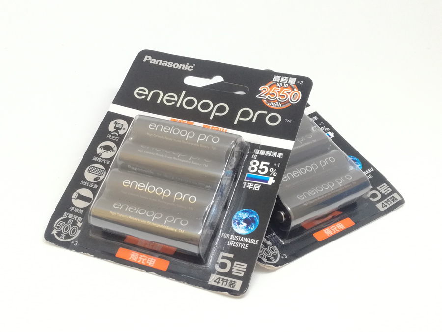 8PCS LOT New Original Panasonic Pro AA 2550mAh High Capacity NI MH Pre charged Rechargeable Battery