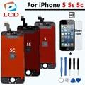 Qualidade AAA No Dead Pixel Da Tela Para o iphone 5 5S 5c LCD Screen Display Toque Digitador Assembléia Substituição Preto e branco