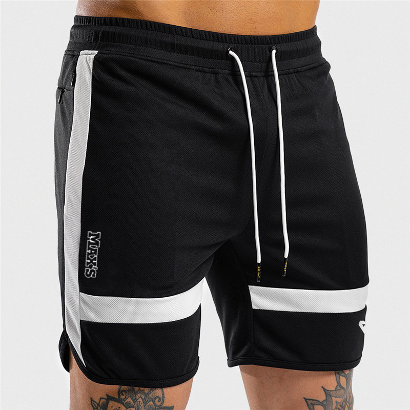 NEW Fitness Sweatpants Shorts Man Summer Gyms Workout Male Breathable Mesh Quick dry Sportswear Jogger Beach Brand Short Pants 7