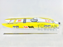 1.3M 120A ESC Brushless Electric 100KM/H RC Speed Racing Boat E51 Two Motor PNP Yellow