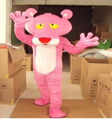 BING RUI CO Sale of adult-sized Pink Panther Mascot Costumes Pink - Costumes