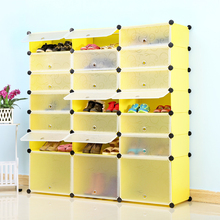 Young Home Simple shoe dust rack cabinet three simple combination of multi-layered plastic Specials