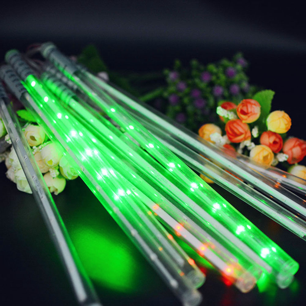 Fashion solar Meteor Shower Rain Tubes lights LED10 lights Christmas wedding garden decoration garland fairy lights80414