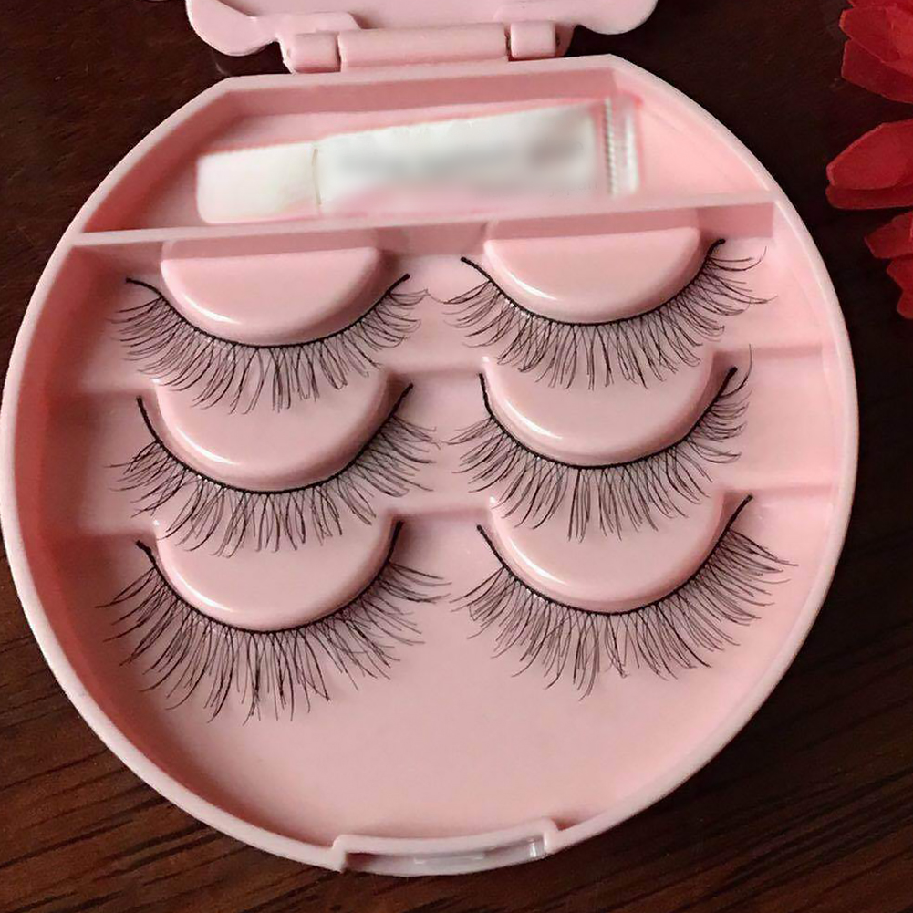 Image 2 - Cute Three Tier Eyelash Travel Storage Container Carry Case Box Acrylic Travel Lash Box Organizer Pink Without Mirror-in False Eyelashes from Beauty & Health