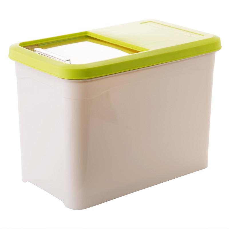 Kitchen Storage Organizer 10Kg Grain Storage Container Rice Holder Box Cereal Bean Container Sealed Box With Measuring Cup-in Storage Bottles u0026 Jars from ...  sc 1 st  AliExpress.com & Kitchen Storage Organizer 10Kg Grain Storage Container Rice Holder ...