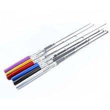 Portable Pen Shape for Pocket Telescopic Mini Fishing Pole Fishing Tackle Sea Rod Fishing Rod With Reel Wheel 6 Colors 2017