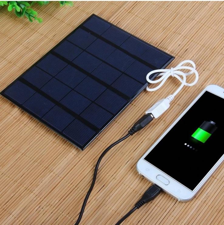 3 5 wusb poder carregador solar movel para celular carregador solar policristalino de celulas solares painel