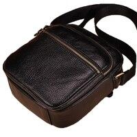 Vintage Cow Leather Men Bag Small Shoulder Bag Genuine Leather Mini Men Messenger Bag High Quality
