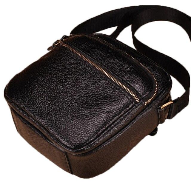 Fashion genuine leather men bags brand leisure men messenger bag man small  shoulder bag high quality f3ad6a3d9106b