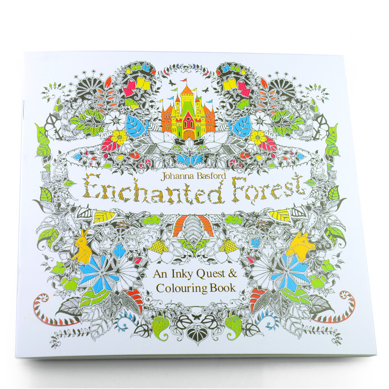 100PCS LOT 24 Pages Secret Garden Fantasy Dream Enchanted Forest Animal Kingdom Coloring Book Adult Relieve Stress Painting In Books From Office