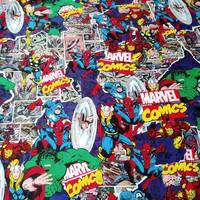 105cm Width Marvel Comics The Avengers Assemble Cotton Fabric for Baby Boy Clothes Sewing Hometextile Patchwork DIY BK519|Fabric|   -