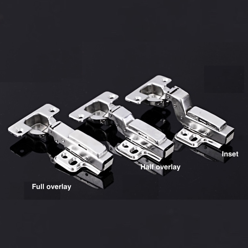 1x Cabinet Cupboard Hinge Detachable Damping Self-closing Hydraulic Concealed Stainless Steel Full Half Overlay Inset Hinge 2 pieces viborg top quality sus304 stainless steel inset hinge soft close self closing cabinet cupboard door hinges inset