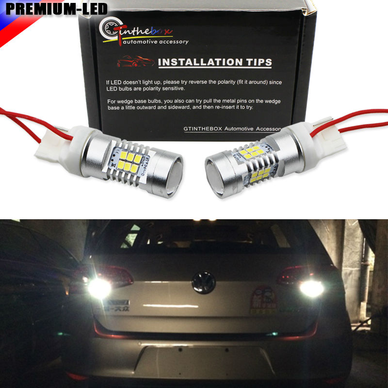 2pcs CAN-bus Error Free 21-SMD 7440 WY21W W21W T20 LED For 2010-2014 Volkswagen MK6 Golf or GTi Backup Reverse Light Bulbs orient часы orient ung6002w коллекция dressy