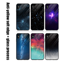 High Grade Tempered Glass Phone Case For iPhone XS Max XR X Starry sky Cover 7 8 6 6S Plus Fitted Cases