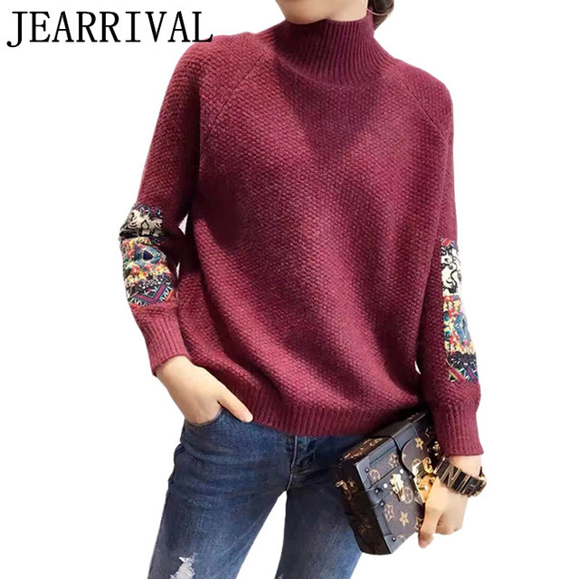 2017 New Spring Oversized Knitted Sweater Vintage Embroidery Long Sleeve Casual Women Sweaters And Pullovers Jumper Pull Femme