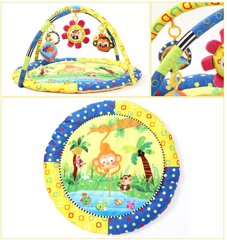 Baby Activity Play Mat  Gym Educational Fitness Frame game Toys mat Monkey | Happy Baby Mama