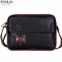 VICUNA POLO New Arrival European And American Style Mens Shoulder Bags Vintage Soft PU Leather Mens