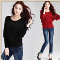 2016 New Winter long batwing sleeve sweater for women big plus size casual woman lace pullover poncho top tunic black,khaki,red