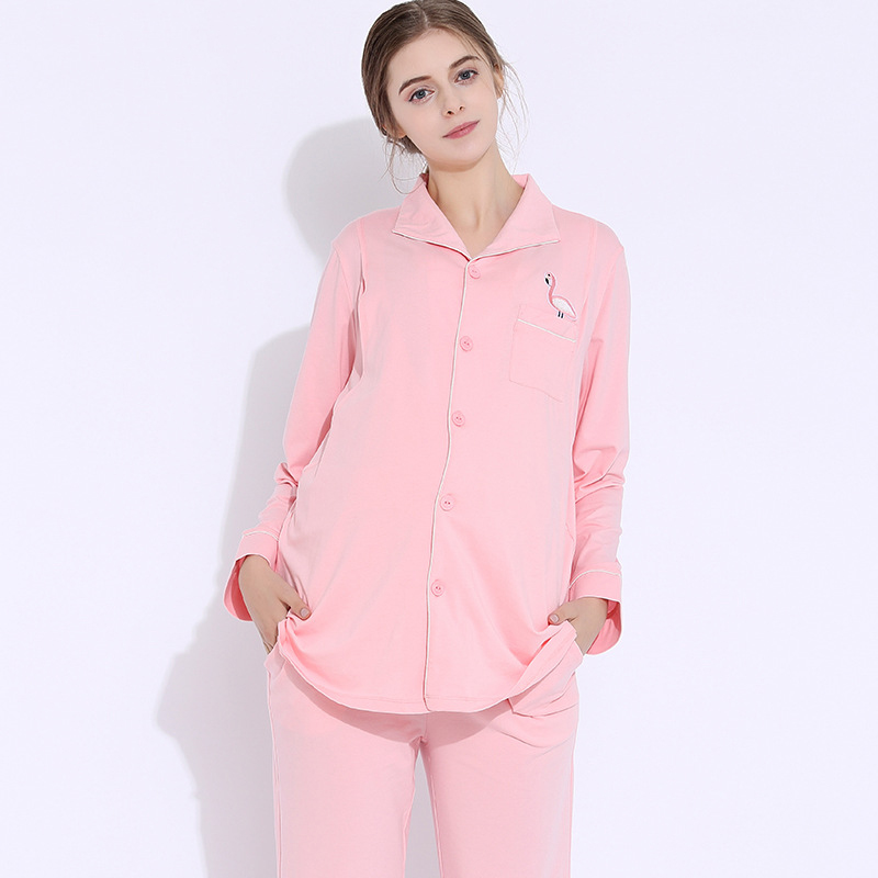 Maternity Clothes Nursing Pajamas set Soft Comfortable Breastfeeding Sleepwear Maternity Pajama Nightgown Pregnancy Clothes