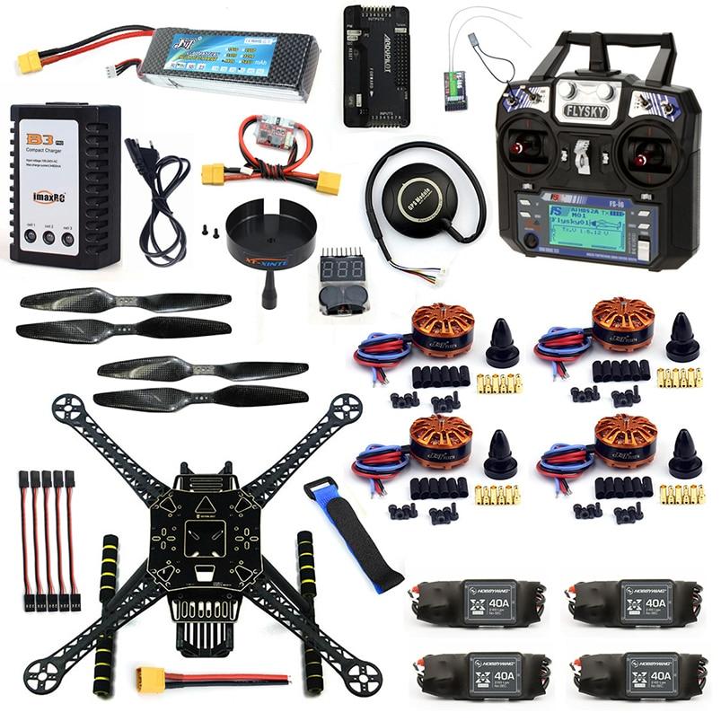 DIY 4 Axle RC FPV Drone S600 Frame Kit with APM 2.8 No Compass Flysky FS-i6 TX Battery Charger 700KV Motor 40A ESC XT60 F19457-J цена 2017