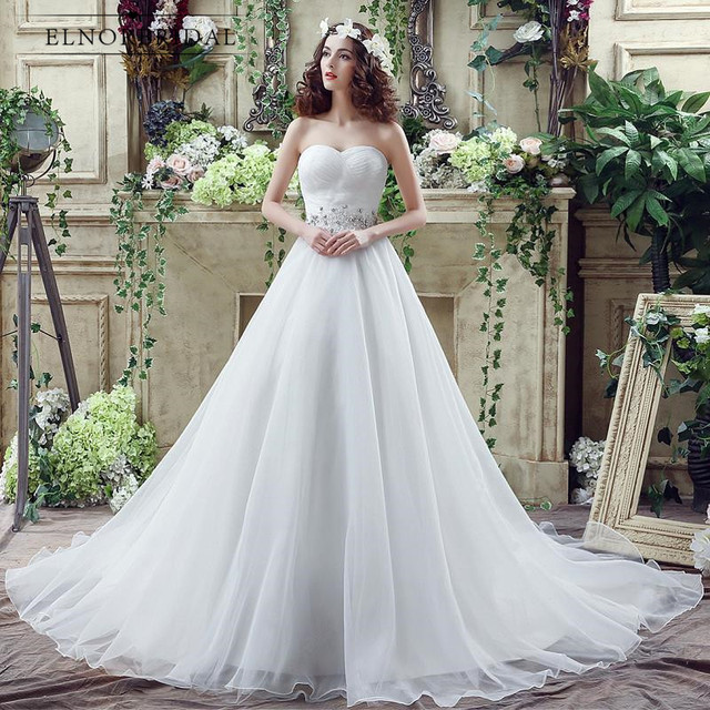 2018 Bohemian Wedding Dress Plus Size Cheap Sweetheart Gelinlik A Line  Vestido De Casamento Corset Back