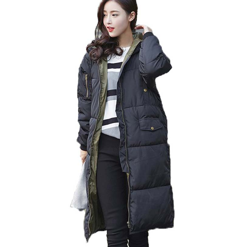 2015 winter women plus size X-Long cotton wadded coat thick down cotton jacket hooded outerwear warm cotton-padded parka BL1240 bbk 20 mws 703 m w белый