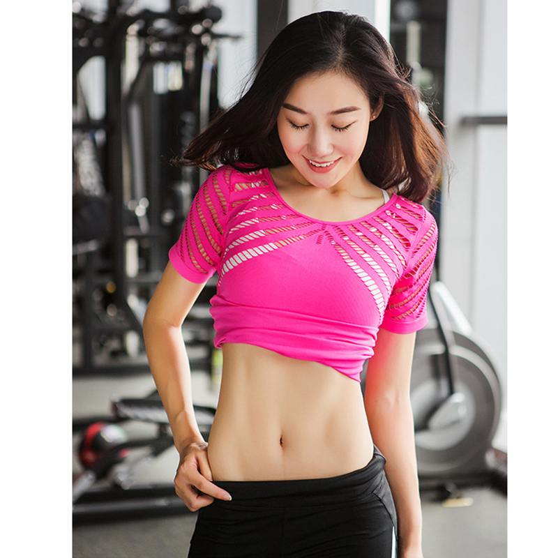 Lucylizz New Hollow Out Yoga Top Summer Short