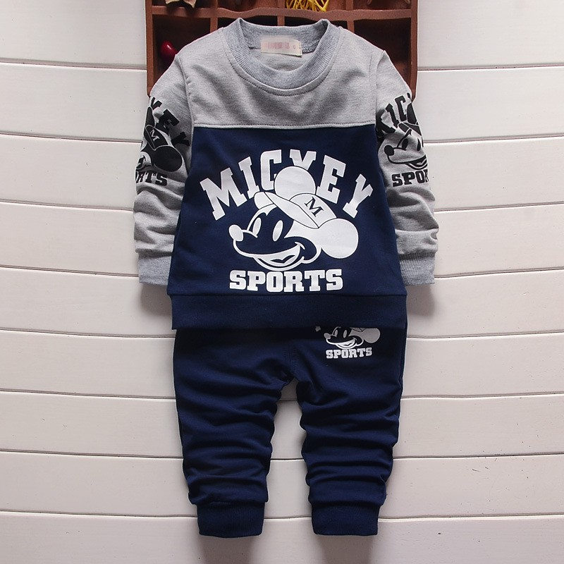 2017 New Boy's clothing sets spring autumn Baby Sets cotton boy tracksuits Kids sport suits cartoon coats sweatshirts+pants  new brand 2pcs ofcs baby boy sets cotton spring