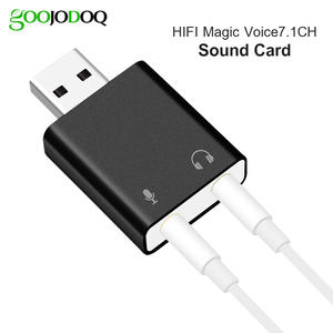 GOOJODOQ External USB Sound Card Plug Sound Card Microphone-in Audio-out port