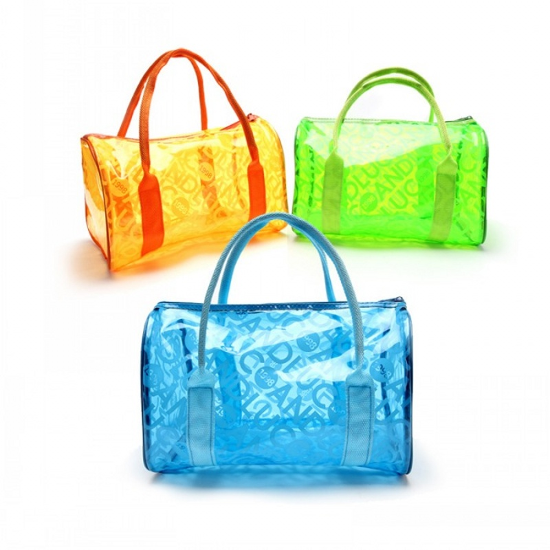 Summer Beach Bag 2017 Fashion Jelly Handbags Messenger Bags Women bolsas Transparent Candy Color Bags High Quality Wash Bags