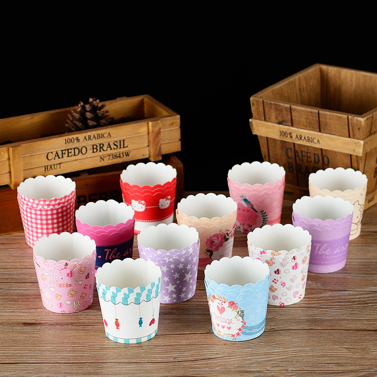 50Pcs/Set Muffin Cake Paper Cups Molds Cupcake decorating tools Baking Supplies DIY Cake Mold Baking Tools for kitchen