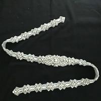 Silver Rhinestones Luxury Bridal Belt Crystal Ribbons Wedding Belt Sash For Bridal Bridesmaids Dresses Cinturon Mujer Boda