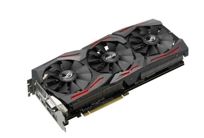 ASUS GTX1080TI 11G GAMING Raptor Overclocked Version GTX1080TI Game Graphics 3fan  Used 90%new