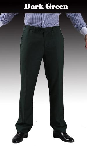 Тонкие брюки мужской формальный деловой Slim Fit Свадебный костюм брюки Diamond синий цвет красного вина черные брюки Размеры 44 плюс Размеры A37 - Цвет: Dark Green