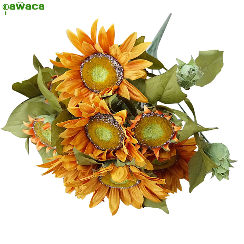 hot selling cheap sunflower decorations for wedding party home decor gifts artificial fake coloful decorative flowers - Sunflower Decorations