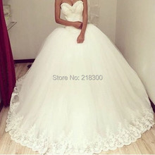 Ball gown wedding dress with beaded lace neckline vintage wedding gowns