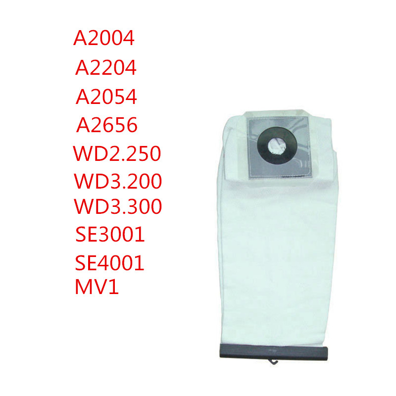 for KARCHER A2004 A2204 A2054 A2656 WD2.250 WD3.200 WD3.300 SE3001 SE4001 MV1 Vacuum cleaner parts dust filter washable bags цена