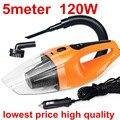 Aspirador de coche mojado y seco de doble uso succión 5 metros 12 v, 120 W baldosas Car vacuum cleaner envío gratis